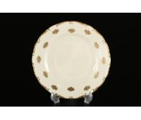 АГ 901 Золотые Мелкие Розы Слоновая Кость набор тарелок 19см 6 штук