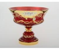 Красная Лепка E-V ваза для фруктов 30см