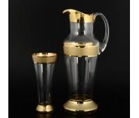 Матовая Полоса кувшин и 6 стаканов Испан
