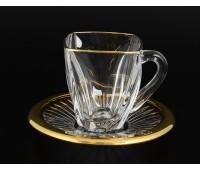 Arezzo Gold набор чайных пар 160мл 6штук