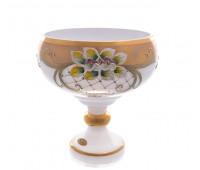 Белая Лепка ваза для конфет 16 см