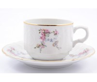 Бернадотт Дикая Роза набор чашек с блюдцами для чая 250мл 6 штук