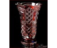 Цветной Хрусталь Рубин ваза для цветов 31см