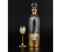 Лепка Золотая набор подарочный штоф и 6 бокалов 60мл