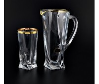 Квадро Голд набор кувшин и 6 стаканов