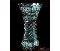 Цветной Хрусталь Лазур ваза для цветов 31см