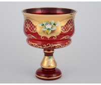 Красная Лепка ваза для конфет 16см