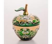 Зеленая Лепка ваза для конфет яблоко, большая
