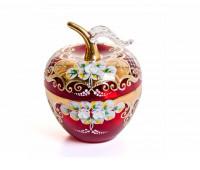 Красная Лепка ваза для конфет яблоко, маленькая