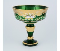 Зеленая Лепка B-L ваза для конфет 17см