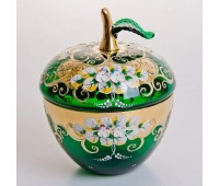 Зеленая Лепка ваза для конфет яблоко, маленькая