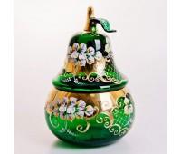 Зеленая Лепка ваза для конфет груша