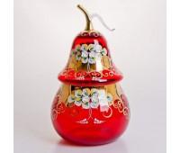 Красная Лепка ваза для конфет груша