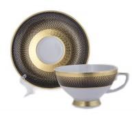 """Falken Porselan """"Рио Блэк Голд"""" набор чайных пар 250мл 6 штук"""