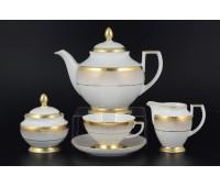 """Falken Porselan """"Рио Голд"""" сервиз чайный на 6 персон 17 предметов"""