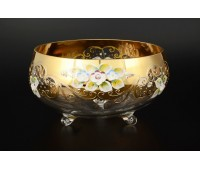 Лепка Золотая Богатая ваза для конфет тройножка 20см