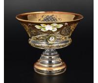 Лепка Золотая Богатая ваза для конфет 15см