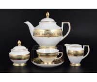 """Falken Porselan """"Арабески Гриншадэ Голд"""" сервиз чайный на 6 персон 17 предметов"""