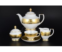 "Falken Porselan ""Диамонд Фулл Голд"" сервиз чайный на 6 персон 17 предметов"