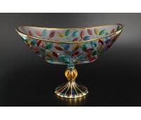 Лаурус Цветной ваза для фруктов овальная