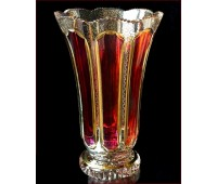Хрусталь  Рубин ваза для цветов 31 см