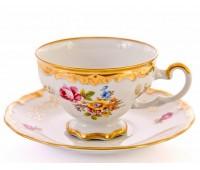 """Веймар """"1145"""" набор 6 чашек с блюдцами для чая 210мл 12 предметов"""