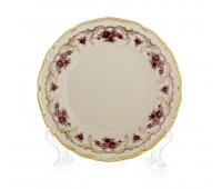 АГ 843 Розовый Цветок Слоновая Кость набор тарелок 19см из 6ти штук закусочные