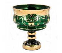 Зеленая Лепка ваза для фруктов 26 см