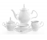Бернадотт 2021 Платина Сервиз чайный на 6 персон из 15-ти предметов