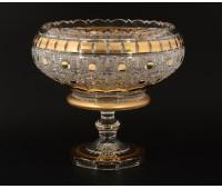 Sone Crystal Хрусталь с Золотом ваза для фруктов 31см
