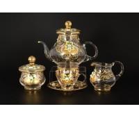 Богемные Узоры Лепка чайный сервиз на 6 персон 15 предметов