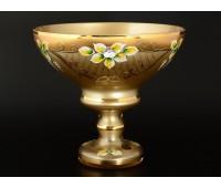 Лепка Золотая веер ваза для конфет 20см