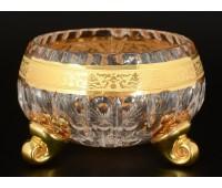 Max Crystal Хрусталь с Золотом ваза для варенья 11см