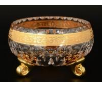 Max Crystal Хрусталь с Золотом ваза для варенья 13см
