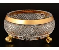 Max Crystal Хрусталь с Золотом ваза для конфет 15см