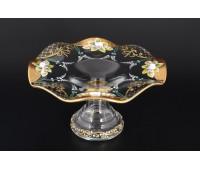 Лепка Золотая веер ваза для конфет 22см