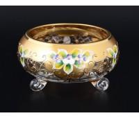 Лепка Золотая Богатая ваза для варенья тройножка 13см