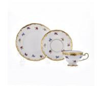 """Веймар """"1016 Мейсенский Цветок"""" набор для чая 18 предметов (6 чашек 210мл с блюдцами и 6 десертных тарелок)"""