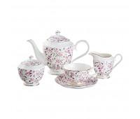 """Lefard. Сервиз чайный """"Мелкий Цветок"""" чайный сервиз на 6 персон 15 предметов."""