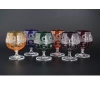 Хрусталь Цветной набор бокалов 250мл 6штук