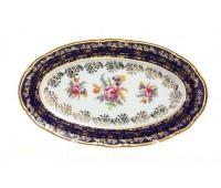 Констанция Полевой цветок Кобальт блюдо овальное 21см