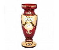 Красная Лепка ваза для цветов 30см