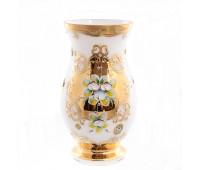 Белая Лепка ваза для цветов 26 см