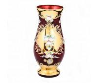 Красная Лепка ваза для цветов 26см
