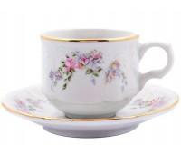 Бернадотт Дикая Роза набор чашек с блюдцами для кофе 120 мл 6 штук