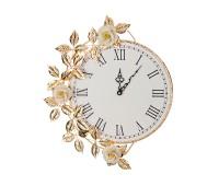 Белые Розы часы настенные 38х46см