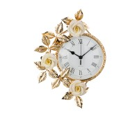 Белые Розы часы настенные 27х36см