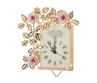 Розовые Розы часы настенные 32х27см