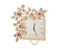 Розовые Розы часы настенные 35х30см