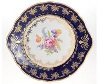 Констанция Полевой цветок Кобальт блюдо круглое 27см